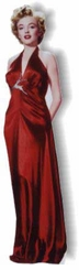 Marilyn Monroe in Red Gown Cardboard Cutout Life Size Standup