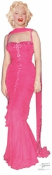 Marilyn Monroe Pink Dress Cardboard Cutout Life Size Standup