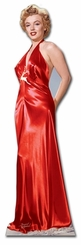 Marilyn Monroe Red Gown Cardboard Cutout Life Size Standup