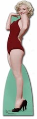 Marilyn Monroe Red Swimsuit Cardboard Cutout Life Size Standup