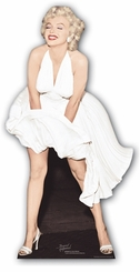 Marilyn Monroe White Dress Cardboard Cutout Life Size Standup