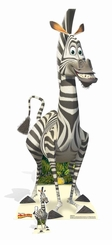 Marty From Madagascar Cardboard Cutout Life Size Standup