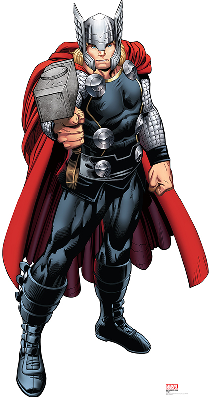 Marvels Thor From Avengers Assemble Cardboard Cutout Life Size