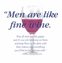 Men are Like Fine Wine Apron