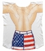 Mens Stars And Stripes Muscle Guy Cover-Up T-Shirt - Made in America - Click to enlarge