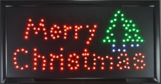 Merry Christmas LED Wall Sign - Click to enlarge
