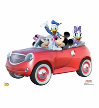 Mickey Car Ride Cardboard Cutout Life Size Standup