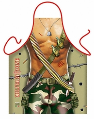 Military Man Funny Novelty Apron