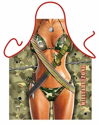 Military Woman Funny Novelty Apron