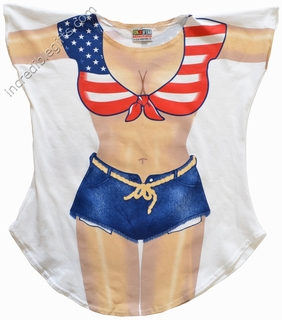 Miss America Cover-Up T-Shirt - Made in America - Click to enlarge