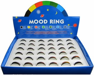 Mood Rings, plain, (Box of 36) - Click to enlarge