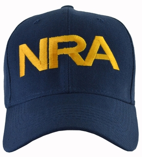 NRA Blue Hat Gold Embroidered - Click to enlarge