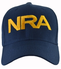 NRA Blue Hat Gold Embroidered