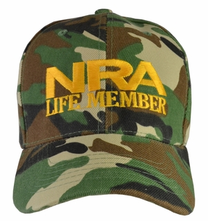 NRA Life Member Camo Hat - Click to enlarge