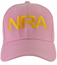 NRA Pink Hat Gold Embroidered