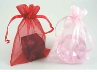 One Dozen 6 Inch x 9 Inch Organza Favor Bags for Diamond Shaped Paperweight & Other Gifts