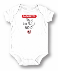 Paparazzi Please No PhotosBaby  Romper/Onesie