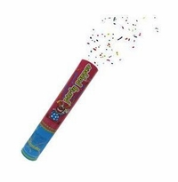"Party Popper  12"" (Red & Blue) Confetti Shooter"