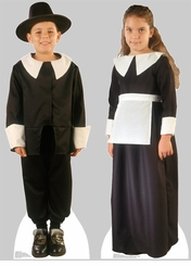 Pilgrim Boy and Girl Cardboard Cutout Life Size Standup