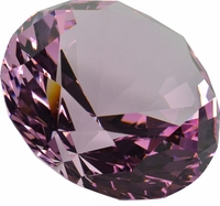Pink Briliant 3.15 Inch (80mm) Diamond Shaped Paperweight