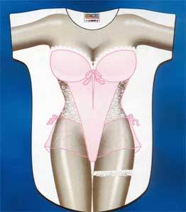 Pink Lingerie Cover-Up T-Shirt - Made in America - Click to enlarge