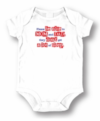 Please Be Nice  baby Romper/Onesie
