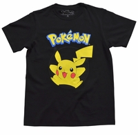 POKÉMON - Pikachu Black T-Shirt