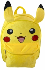 "Pokemon Pickachu Ears 16"" Plush Backpack"