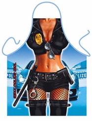 Police Girl Funny Novelty  Apron