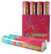 "Party Popper 12"" (Red & Blue) Confetti Shooter (6 Pieces)"