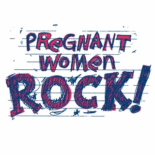 Pregnant Women Rock Maternity Nightshirt - Click to enlarge