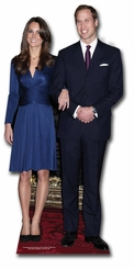 Prince Willian and Kate Cardboard Cutout Life Size Standup