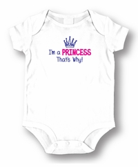 Princess That's Why Attitude Romper /Onesie