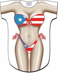 Puerto Rican Bikini Cover-Up T-Shirt - Made in America