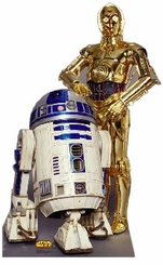 R2-D2 & C3PO Cardboard Cutout Life Size Standup