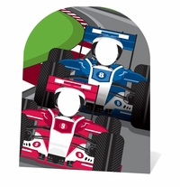 Racing Car Cardboard Cutout Life Size Stand-In