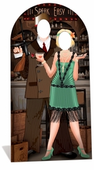 Roaring 20's Couple Cardboard Cutout Life Size Stand-In