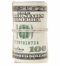 Roll of $100 Bills Cardboard Cutout Life Size Standup