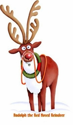 Rudolph the Red Nosed Reindeer Cardboard Cutout Life Size Standup