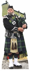 Scottish Bag Piper Cardboard Cutout Life Size Standup