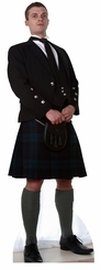 Scottish Man In Kilt Cardboard Cutout Life Size Standup