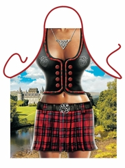 Scottish Woman Funny Novelty  Apron