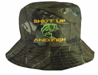 Shut Up and Fish Bucket Camo Hat