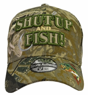 Shut Up and Fish Camo Hat - Click to enlarge