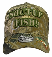 Shut Up and Fish Camo Hat