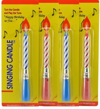 Singing Candle (4 Pack)