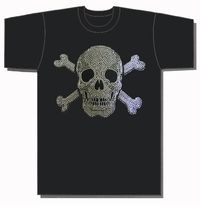 Skull and Bones Metal Studded T-Shirt