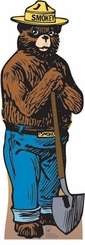 Smokey the Bear Cardboard Cutout Life Size Standup