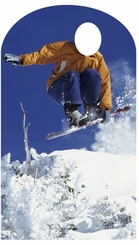 Snowboarding Stand-In Cardboard Cutout Life Size Standup