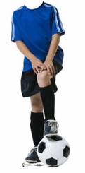 Soccer Boy Stand-In Cardboard Cutout Life Size Standup